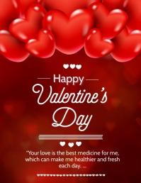 Valentine's , valentines wishes, 传单(美国信函) template