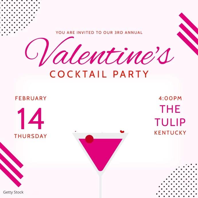Valentine's Bar Event Advertisement Template