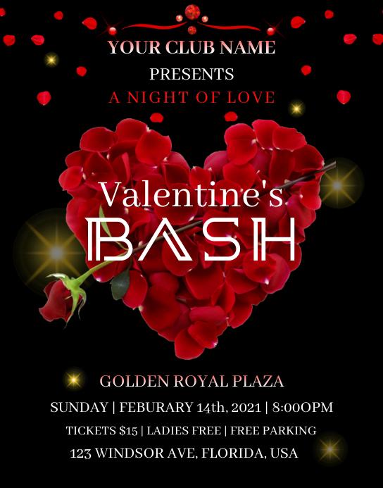 Valentine's Bash Plakat/vægtavle template
