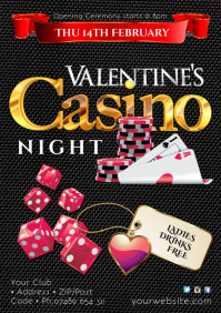 Valentine's Casino Night Poster