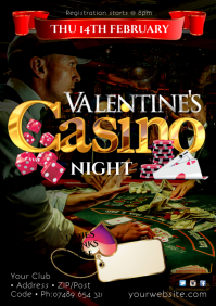 Valentine's Casino Night Poster