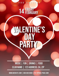 Valentine's Club Party Flyer Template