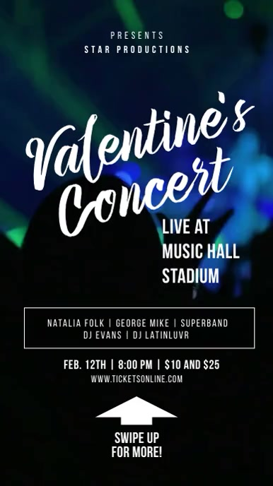 Valentine's Concert Story template