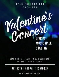 Valentine's Concert Video Flyer template