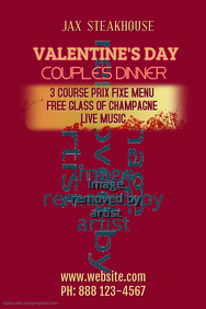 Valentine's Couples Dinner Poster Template