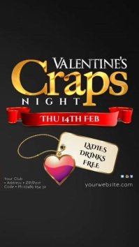 Valentine's Craps Night Instagram Template