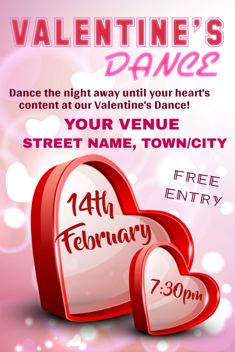 Valentine's Dance Poster template