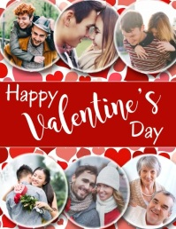 Valentine's Day, Collage Volantino (US Letter) template