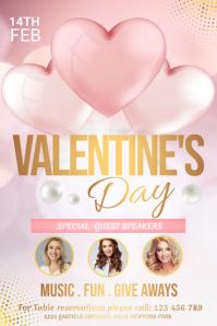 Valentine's day, valentine, valentine lunch Iphosta template