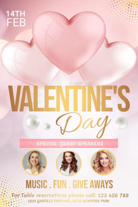 Valentine's day, valentine, valentine lunch Poster template