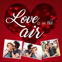 Valentine's day, valentine, valentine video Quadrato (1:1) template