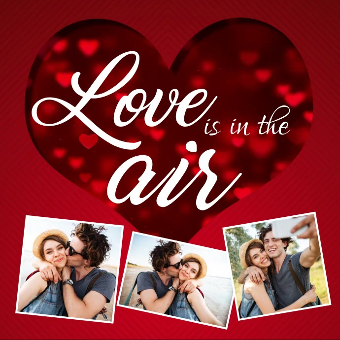 Valentine's day, valentine, valentine video Kvadrat (1:1) template