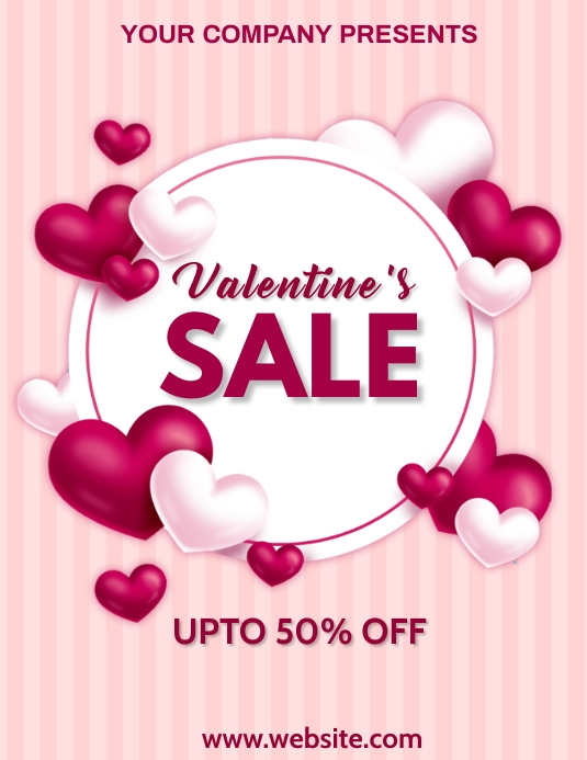 Valentine's day,valentine, event Flyer (Letter pang-US) template