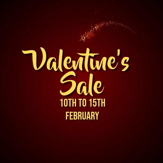 Valentine's Day Ad Video Template Pos Instagram