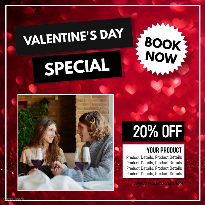 Valentine's Day Advert Hearts Deal Retail
