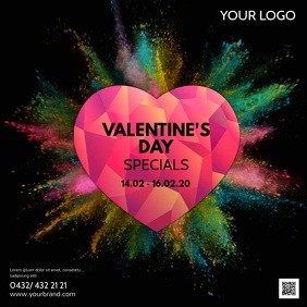 Valentine's Day Advert Video Color Explosion
