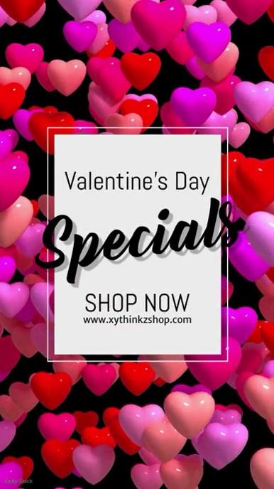 valentine's day advert video promo shopping s เรื่องราวบน Instagram template