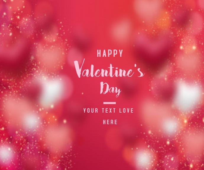 Valentine's day background Mellemstort rektangel template