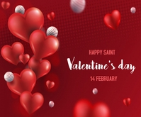 Valentine's day background Mellemstort rektangel template