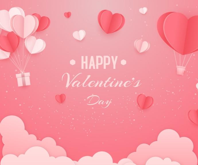 Valentine's day background Средний прямоугольник template