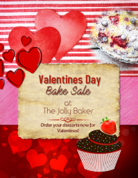 Valentine's Day Bake Sale Special Flyer