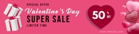 Valentine's Day Banner Ads แบนเนอร์ 2' × 8' template