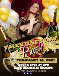 Valentine's Day Bash Pamflet (VSA Brief) template