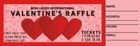 Valentine's Day Basket raffle Banner 2 × 6' template
