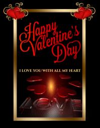Valentine's Day Card Plakat/vægtavle template