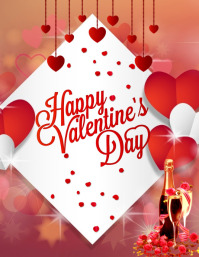 Valentine's Day Card Flyer (US Letter) template