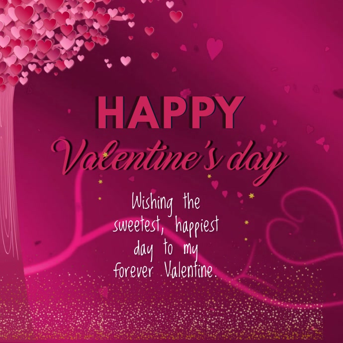 valentine's day card video template