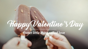 Valentine's day celebration template Facebook-omslagvideo (16:9)