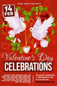 Valentine's Day Celebrations Video Poster โปสเตอร์ template