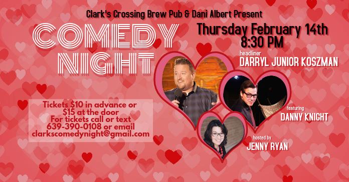 Valentine's Day Comedy Show Facebook Event Facebook-Anzeige template