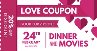 Valentine's Day Couple's Coupon Facebook Post template