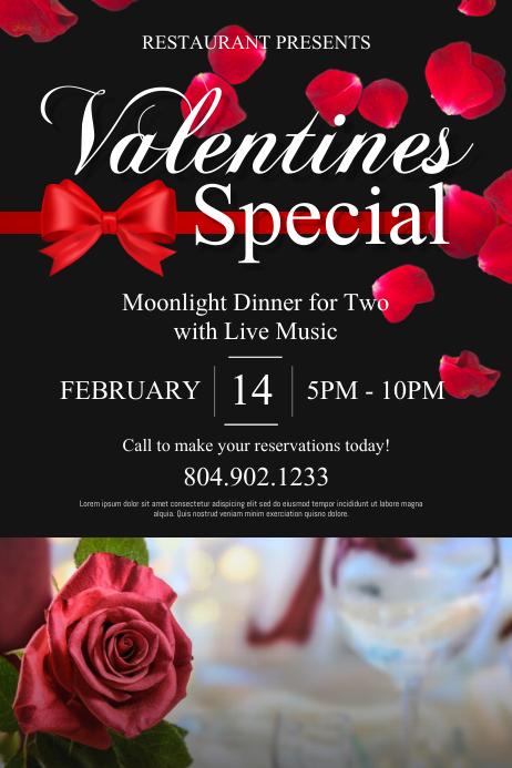 Valentine's Day Plakat template