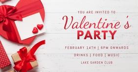 valentine's day Okładka wydarzenia na Facebooku template