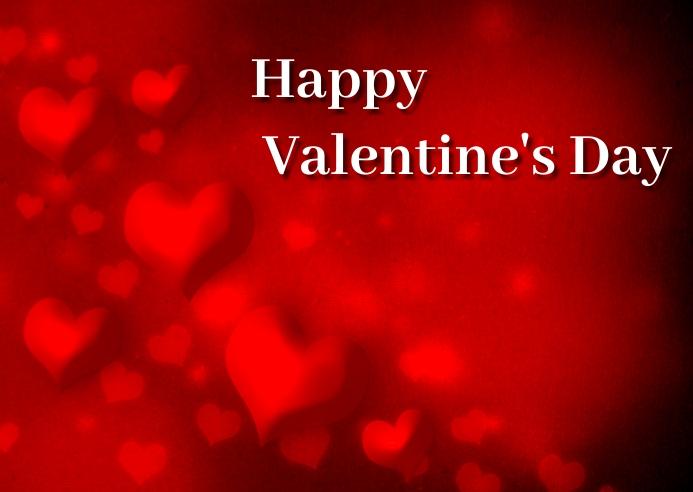 valentine's day Postkort template