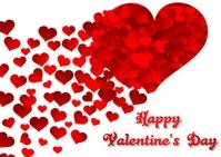 valentine's day Poskaart template