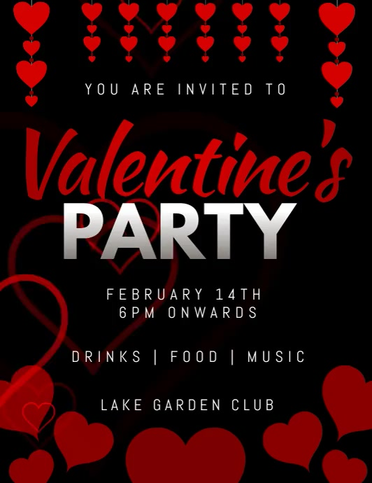 valentine's day Flyer (Letter pang-US) template