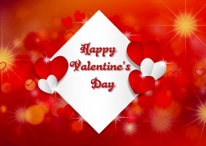 valentine's day ไปรษณียบัตร template