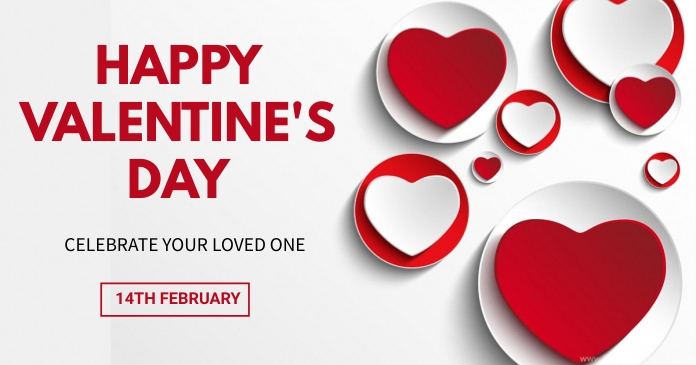 Valentine's day Facebook 共享图片 template