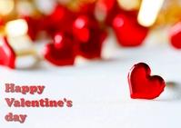 valentine's day Postal template
