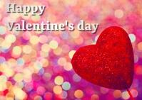 valentine's day Kartu Pos template