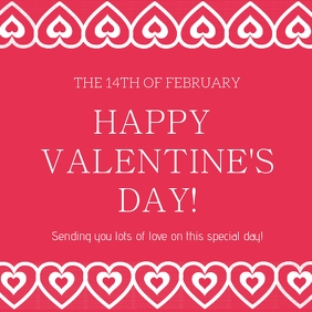 Happy Valentine's Day 2021 Template Cuadrado (1:1)