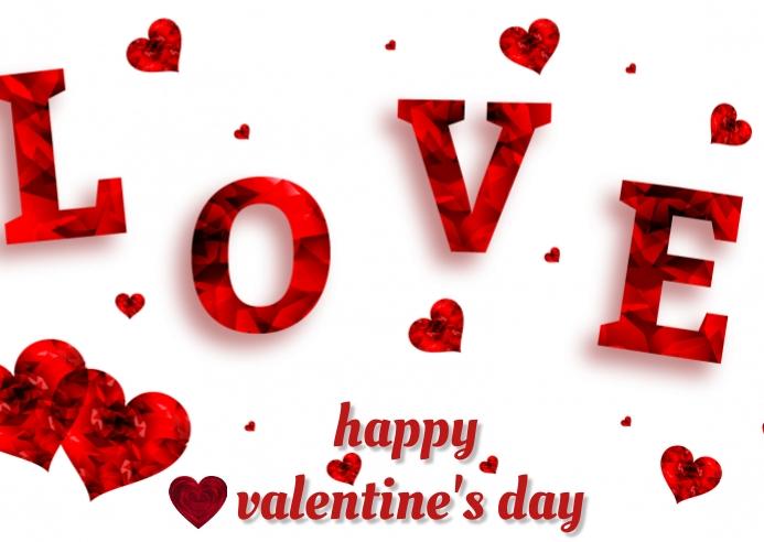 valentine's day Postkarte template