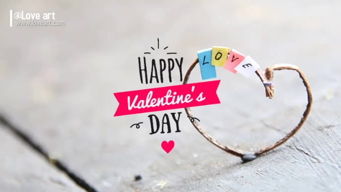 valentine's day Facebook Cover Video (16:9) template