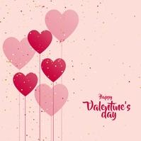 Valentine's Day Instagram-opslag template