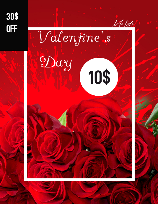 Valentine's Day Volante (Carta US) template