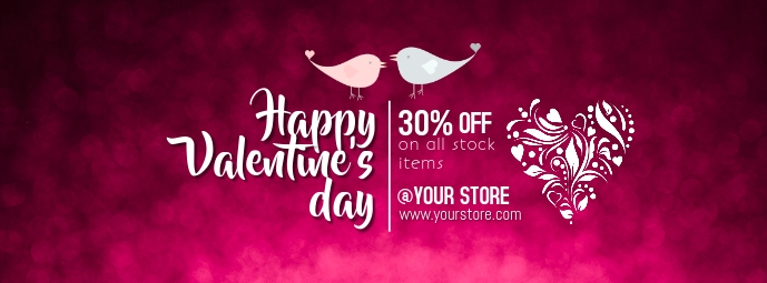 Valentine's Day Foto Sampul Facebook template